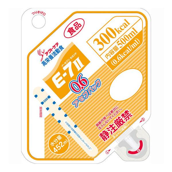 流動食 E-7セカンド 0.6(イーセブンセカンド)アセプバッグ 300kcal 500ml×16個 【2ケース購入で送料無料】