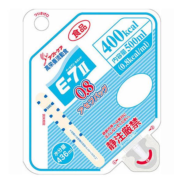 流動食 E-7セカンド 0.8(イーセブンセカンド)アセプバッグ 400kcal 500ml×16個 【2ケース購入で送料無料】