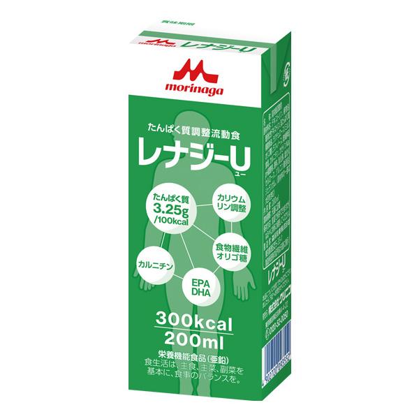 流動食 レナジーU 300kcal 200ml×30パック 【2ケース購入で送料無料】[高カロリー]