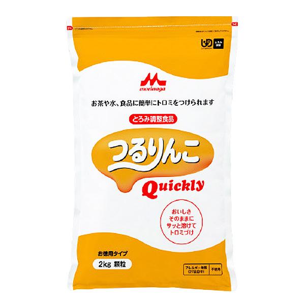 とろみ剤 クリニコ つるりんこQuickly 2kg 【2袋購入で送料無料】[介護食/介護用品]