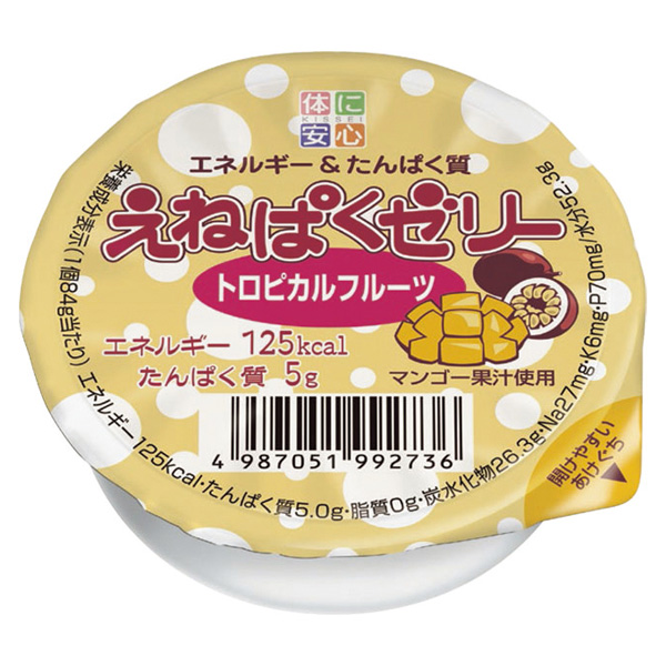 介護食 高カロリー えねぱくゼリー トロピカルフルーツ 84g×48個