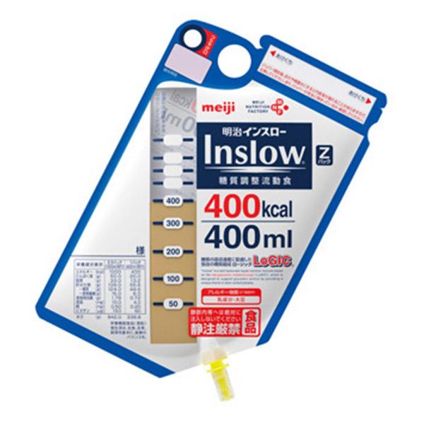 流動食 明治インスロー (Inslow) Zパック400kcal×12個 【2ケース購入で送料無料】