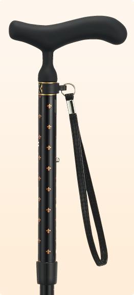 新品 ステッキ 杖 折りたたみ おしゃれ 愛杖 あいじょう カーボンシリーズ ブラック C-76
