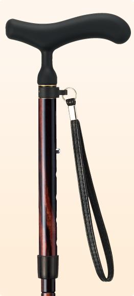 ステッキ 杖 折りたたみ おしゃれ 愛杖 あいじょう カーボンシリーズ 黒檀巻き C-78