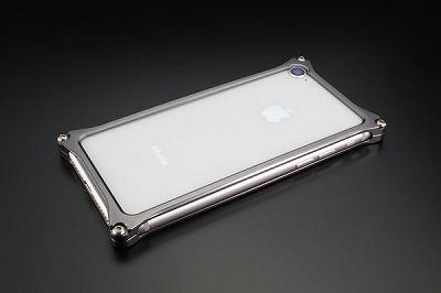 スマホ ケース iphone GI-402GR ソリッドバンパーiP8/7/グレー