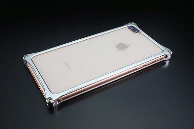 スマホ ケース iphone GI-412S ソリッドバンパー iP8P/7P/シルバー