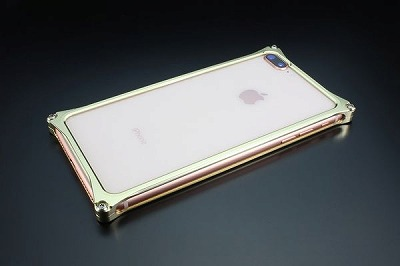 スマホ ケース iphone GI-412CG ソリッドバンパー iP8P/7P/シャンパンゴールド