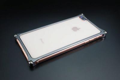 スマホ ケース iphone GI-412GR ソリッドバンパー iP8P/7P/グレー