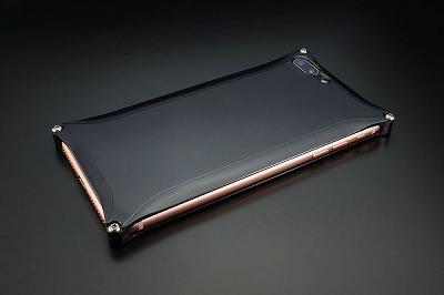 スマホ ケース iphone GI-410PB ソリッド iP8P/7P/ポリッシュブラック