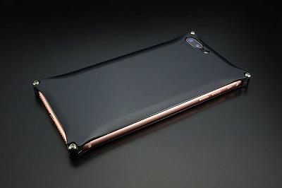 スマホ ケース iphone GI-410B ソリッド iP8P/7P/ブラック