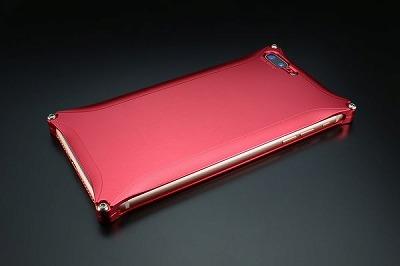 スマホ ケース iphone GI-410R ソリッド iP8P/7P/レッド