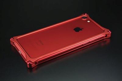 新品 スマホ ケース iphone GI-402MR ソリッドバンパ-Solidbumper Matte RED Edition
