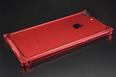 スマホ ケース iphone GI-412MR ソリッドバンパーSolidbumper Matte RED Edition