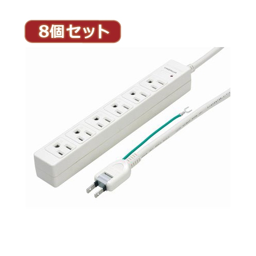 YAZAWA 8個セット3Pマグネットタップ Y02JKP605WHX8