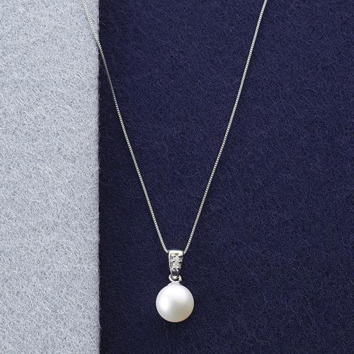 本真珠&ダイヤモンドペンダント