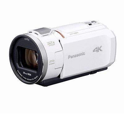 新品 Panasonic デジタル4Kビデオカメラ VZX1M 64GB あとから補正 ホワイト HC-VZX1M-W