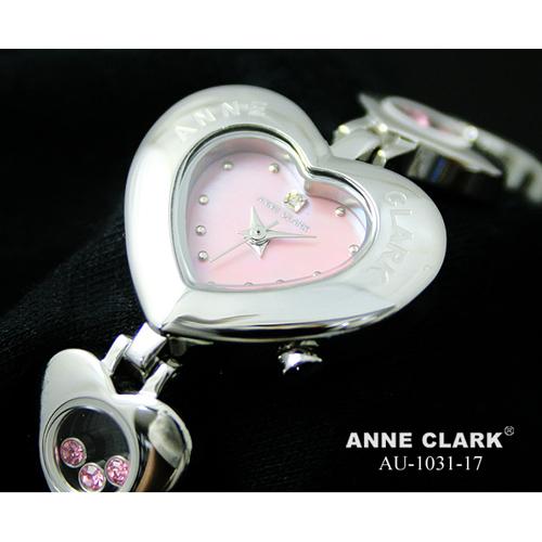 ANNE CLARK 1P天然ダイヤ ハート型フェイス ムービングカラーストーン AU1031-17
