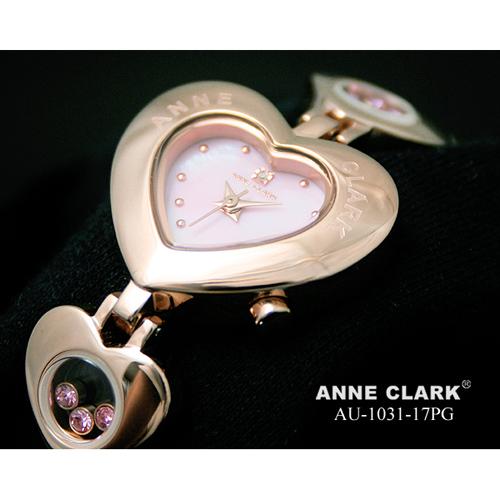 ANNE CLARK 1P天然ダイヤ ハート型フェイス ムービングカラーストーン AU1031-17PG