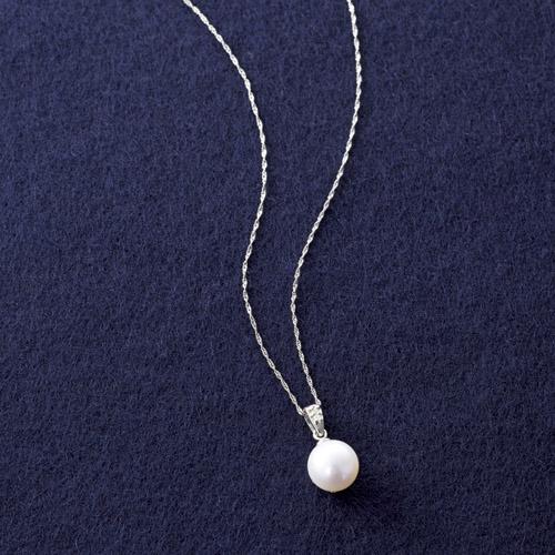 プラチナ あこや真珠&ダイヤモンドペンダント