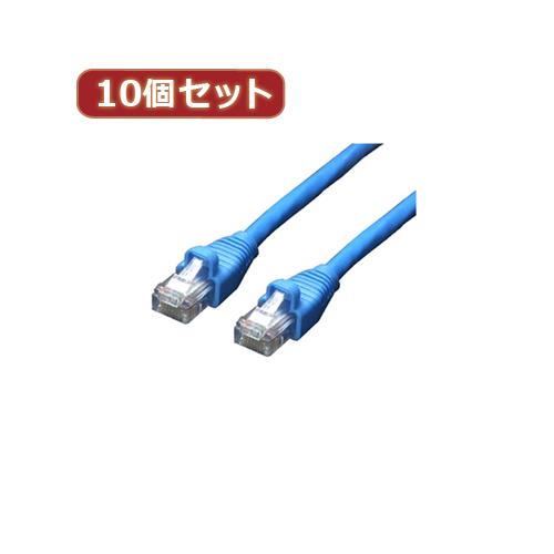 変換名人 10個セット LANケーブル CAT6 10.0m LAN6-CA1000X10