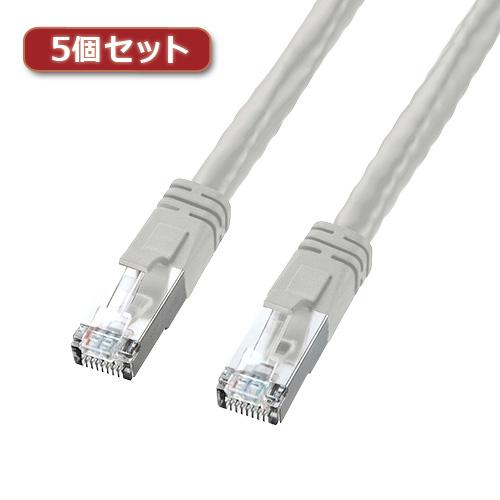 5個セット サンワサプライ PoECAT6LANケーブル KB-T6POE-10X5