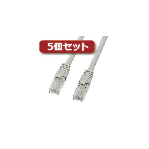 5個セット サンワサプライ カテゴリ6UTPクロスケーブル KB-T6L-10CKX5