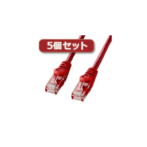 5個セット サンワサプライ カテゴリ6UTPLANケーブル LA-Y6-15RX5