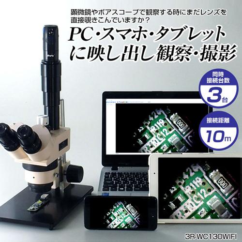 スリーアールソリューション WIFI接続Cマウントカメラ 3R-WC130WIFI