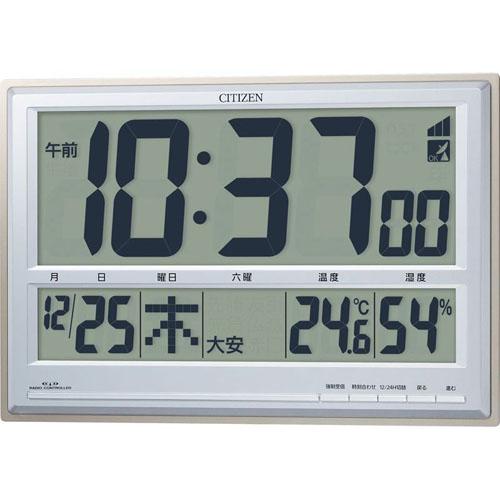シチズン 掛置兼用電波時計 パルデジットペール B2172520 B3173056