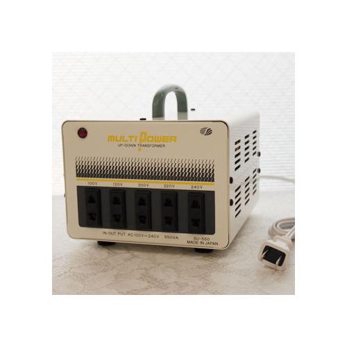 スワロー電機 受注生産のため納期約2週間100~240V対応 マルチ変圧器 550W SU-550