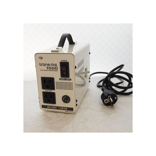 スワロー電機 受注生産のため納期約2週間ダウントランス 220・230V→100V / 1500W PAL-1500EP