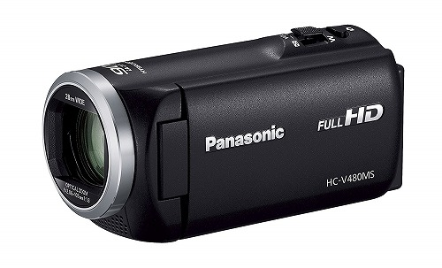 新品 Panasonic HDビデオカメラ V480MS 32GB 高倍率90倍ズーム ブラック HC-V480MS-K