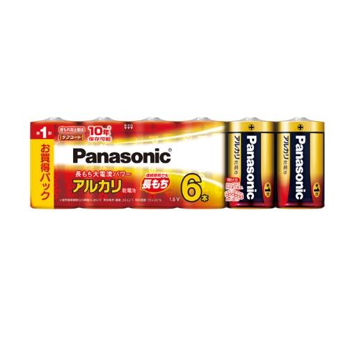 単1形6本パック LR20XJ 6SW パナソニック 6本パック 乾電池 Panasonic 単1形アルカリ乾電池 出群 蔵