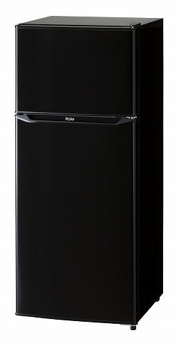 ハイアール130L2ドア冷蔵庫(直冷式)ブラック【右開き】HaierJR-N130A-K