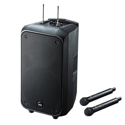 サンワサプライ ワイヤレスマイク付き拡声器スピーカー MM-SPAMP8