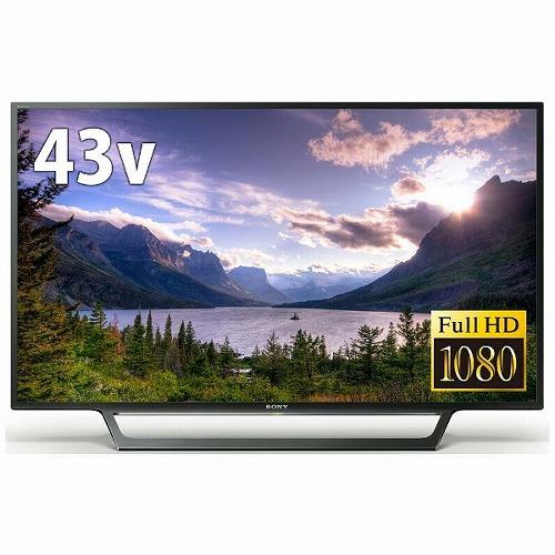 送料無料(一部地域除く) 新品 ソニー SONY 43V型 フルハイビジョン液晶テレビ 外付けHDD録画対応 (裏番組録画) ブラビア KJ-43W730E