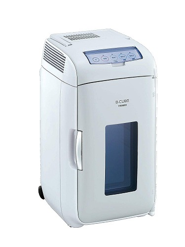 TWINBIRD 2電源式ポータブル電子適温ボックス D-CUBE L グレー HR-DB07GY