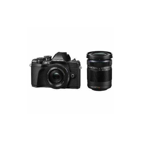 【即納】オリンパス デジタル一眼カメラ ミラーレス一眼カメラ OM-D E-M10 Mark III EZダブルズームキット E-M10-MKIII-EZWZK-BK ブラック【送料無料】