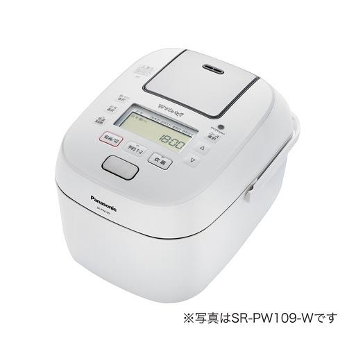 パナソニック SR-PW189 可変圧力IH炊飯ジャー「Wおどり炊き」 (1升) ホワイト SRPW189
