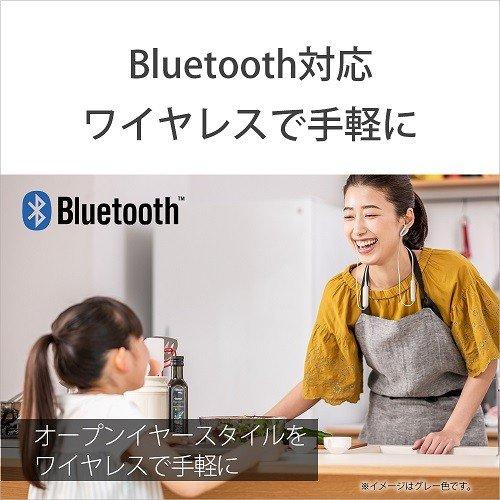耳をふさがない開放型BluetoothワイヤレスイヤホングレーソニーSBH82DJP