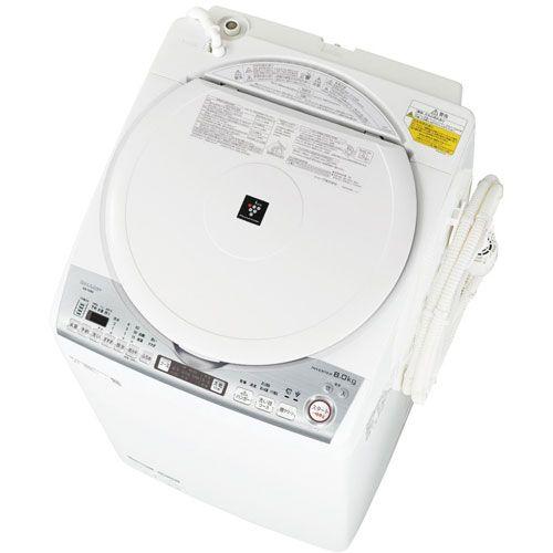 タテ型洗濯乾燥機 洗濯8Kg 乾燥4.5kg ホワイト シャープ ES-TX8D【配送設置対象商品】