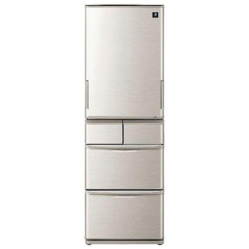 5ドア冷蔵庫 プラズマクラスター 412L どっちもドア シルバー系 シャープ SJ-W412E