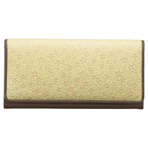 草木染め印伝 つた桜柄長財布 M81101029