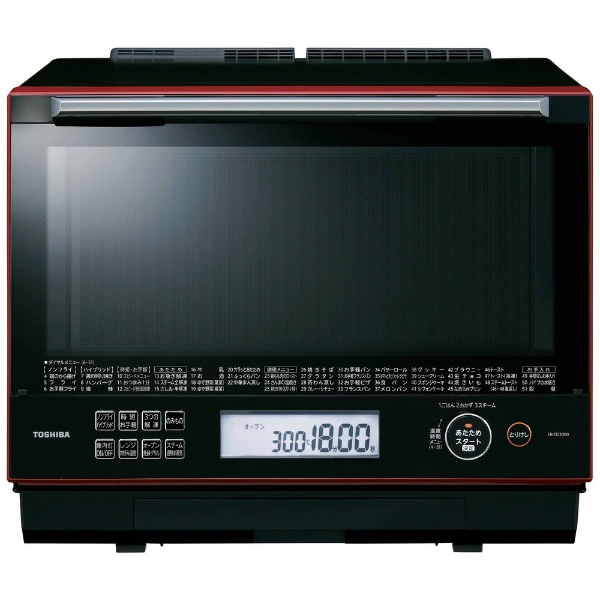 電子レンジ 過熱水蒸気オーブンレンジ 30L グランレッド 東芝 ER-TD3000