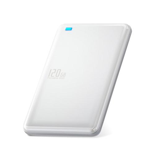 エレコム 外付けSSD/ポータブル/USB3.1(Gen1)対応/120GB/ホワイト ESD-ED0120GWH