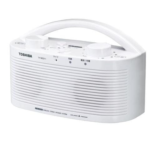 新品 東芝 TOSHIBA 防水対応テレビ用ワイヤレススピーカーシステム(送信機と受信機のセット)TOSHIBA TY-WSD11-W