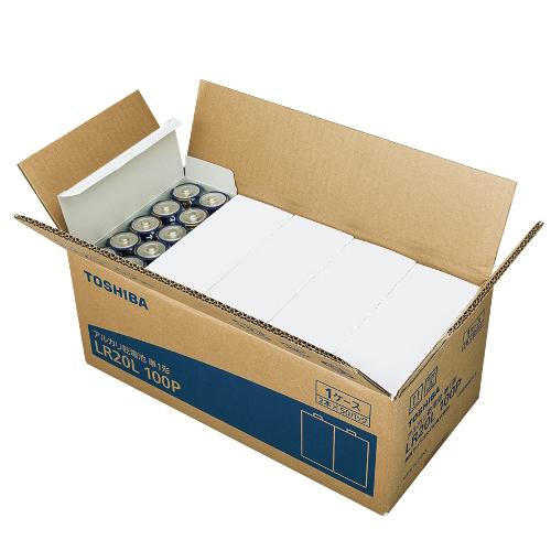 東芝 TOSHIBA アルカリ乾電池 アルカリ(単一・100本) LR20L-100P