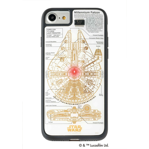 STAR WARS スター・ウォーズ グッズコレクション FLASH M-FALCON 基板アート iPhone 7/8ケース 白 F7/8W