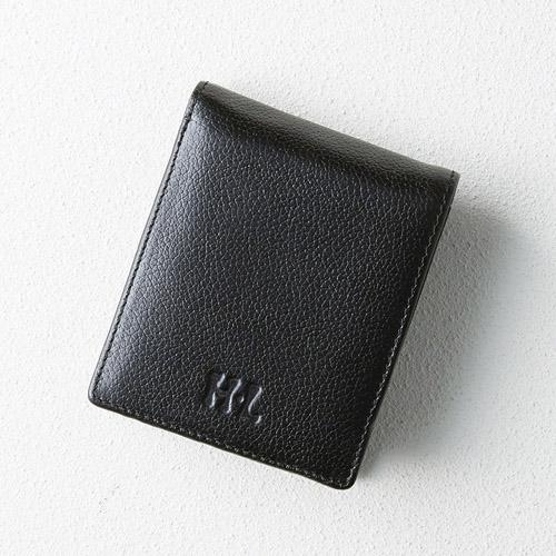 アッシュエル パスケース付き二つ折財布(ブラック) M80813648