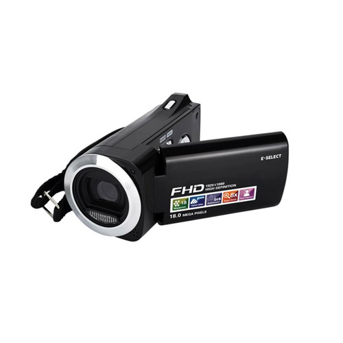 E-SELECT フルハイビジョン 新着セール 買物 乾電池式 ビデオカメラ ES-HDV5MBK デジタル